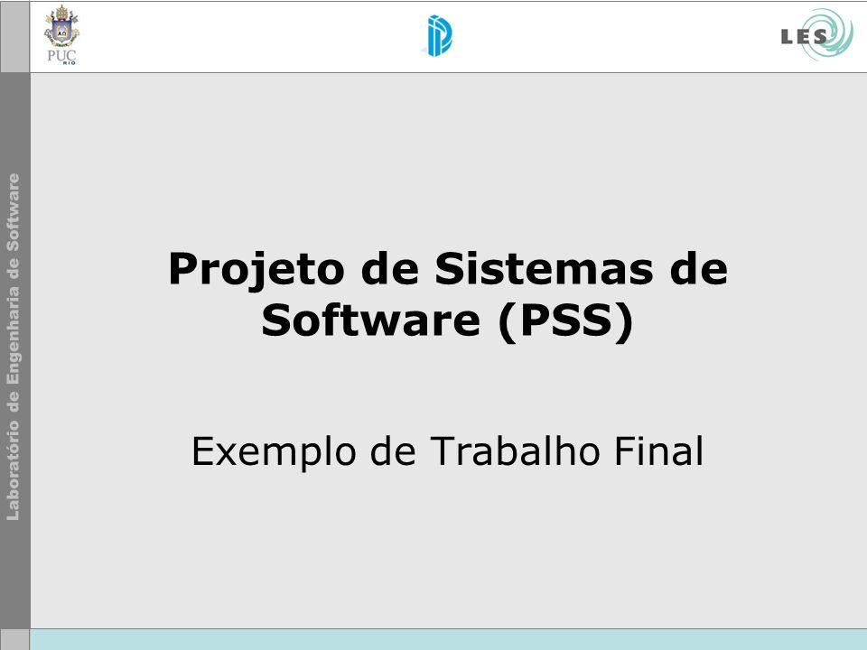 Projeto de Sistemas de Software (PSS)