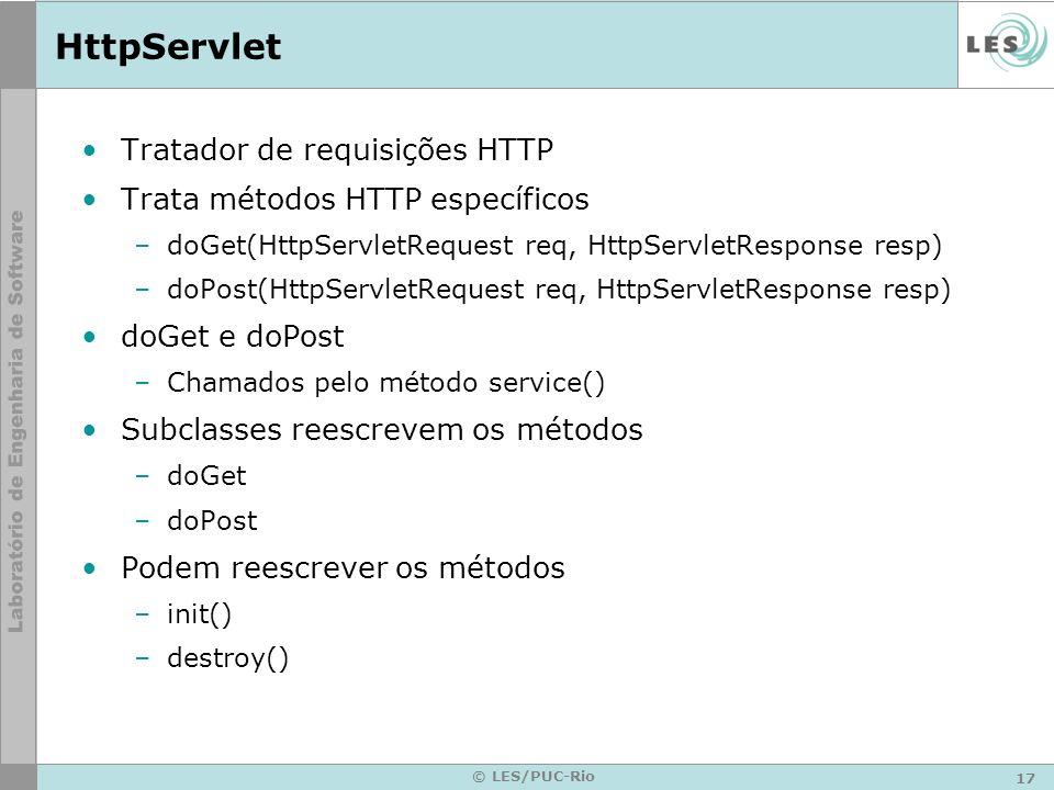 HttpServlet Tratador de requisições HTTP