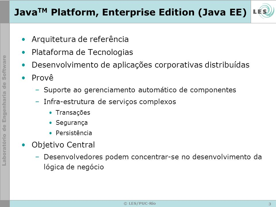 JavaTM Platform, Enterprise Edition (Java EE)