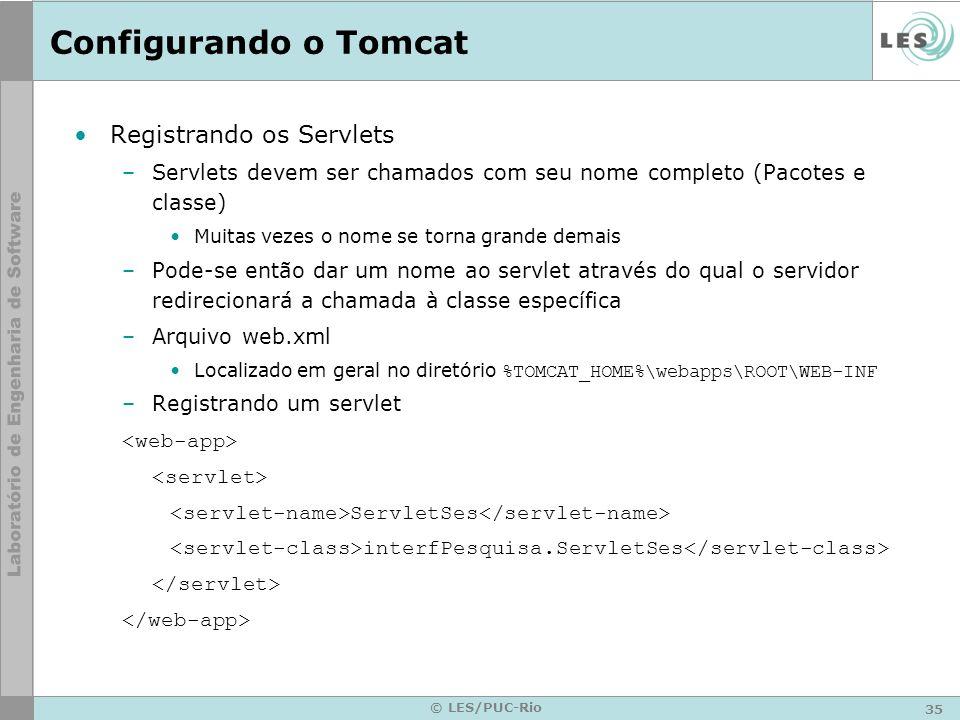 Configurando o Tomcat Registrando os Servlets