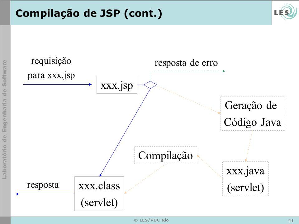 Compilação de JSP (cont.)