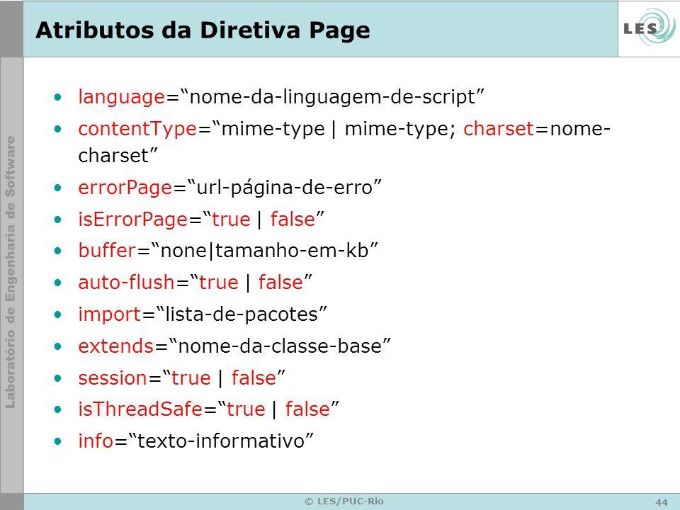 Atributos da Diretiva Page