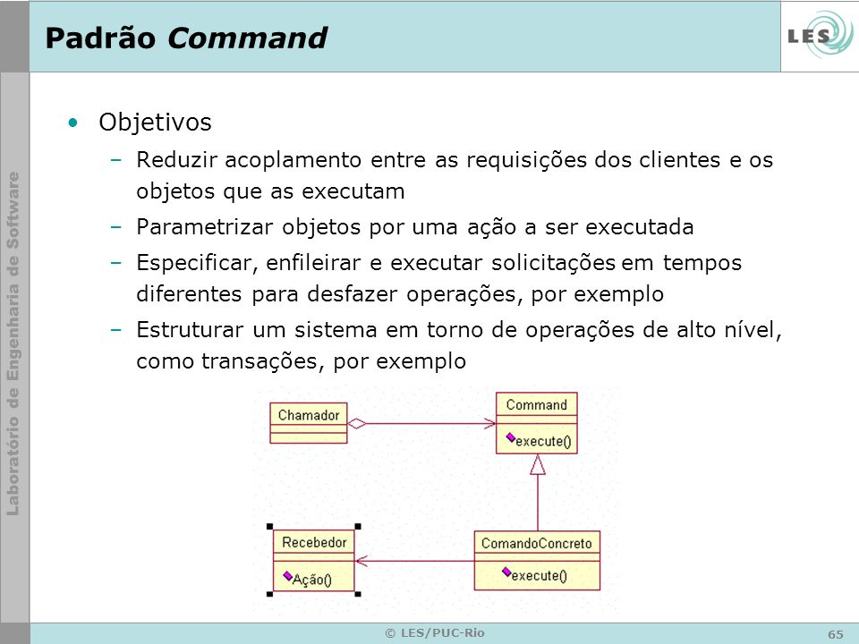 Padrão Command Objetivos