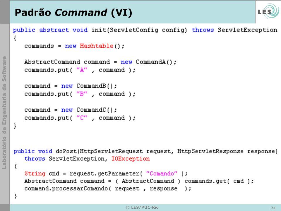 Padrão Command (VI) © LES/PUC-Rio