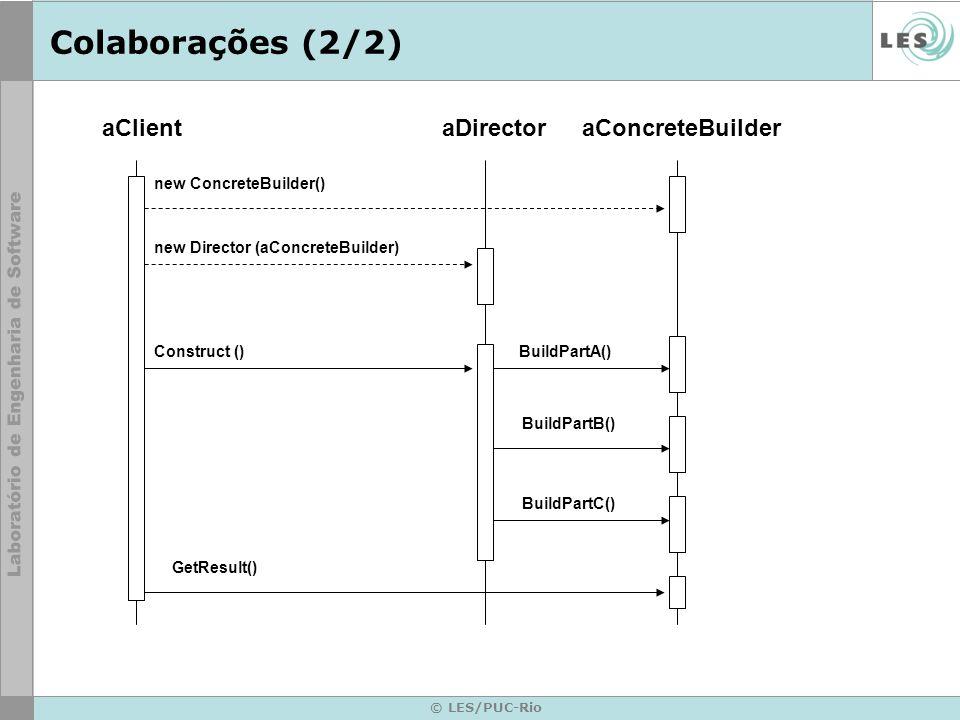 new ConcreteBuilder() new Director (aConcreteBuilder)