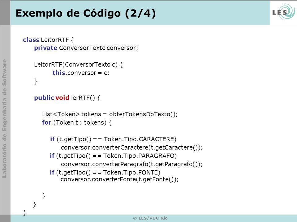 Exemplo de Código (2/4) class LeitorRTF {