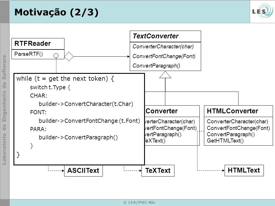 Motivação (2/3) TextConverter RTFReader ASCIIConverter TeXConverter
