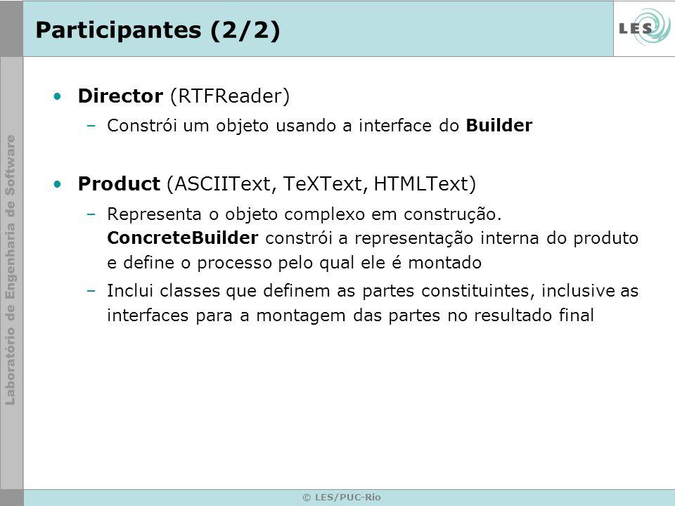 Participantes (2/2) Director (RTFReader)