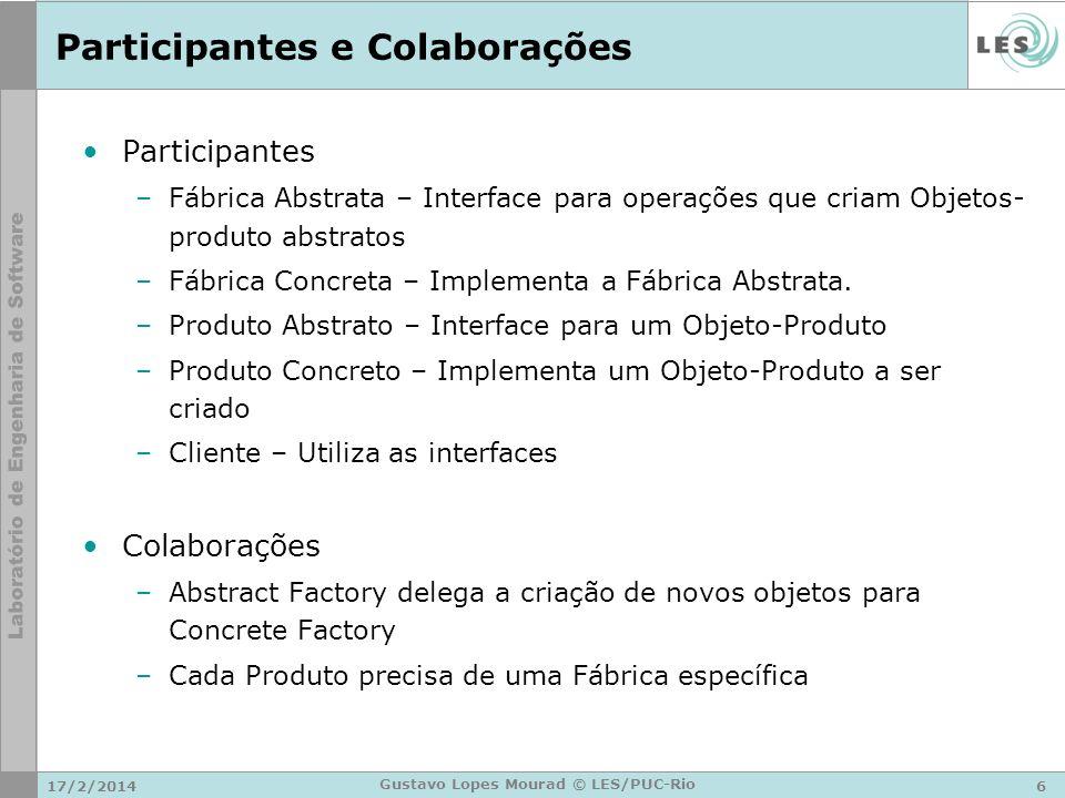 Participantes e Colaborações