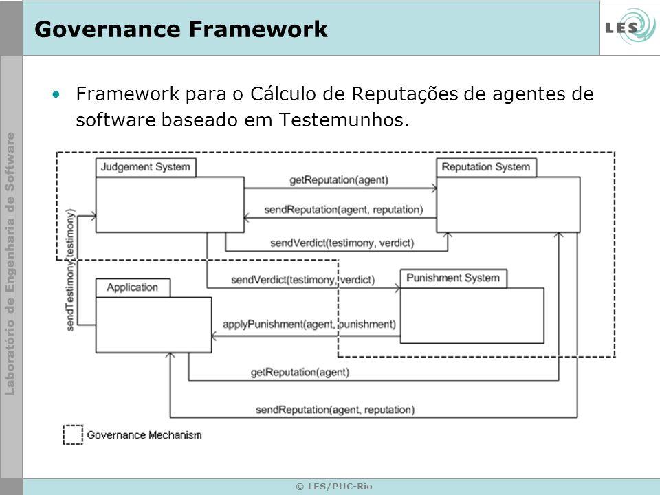 Governance Framework Framework para o Cálculo de Reputações de agentes de software baseado em Testemunhos.