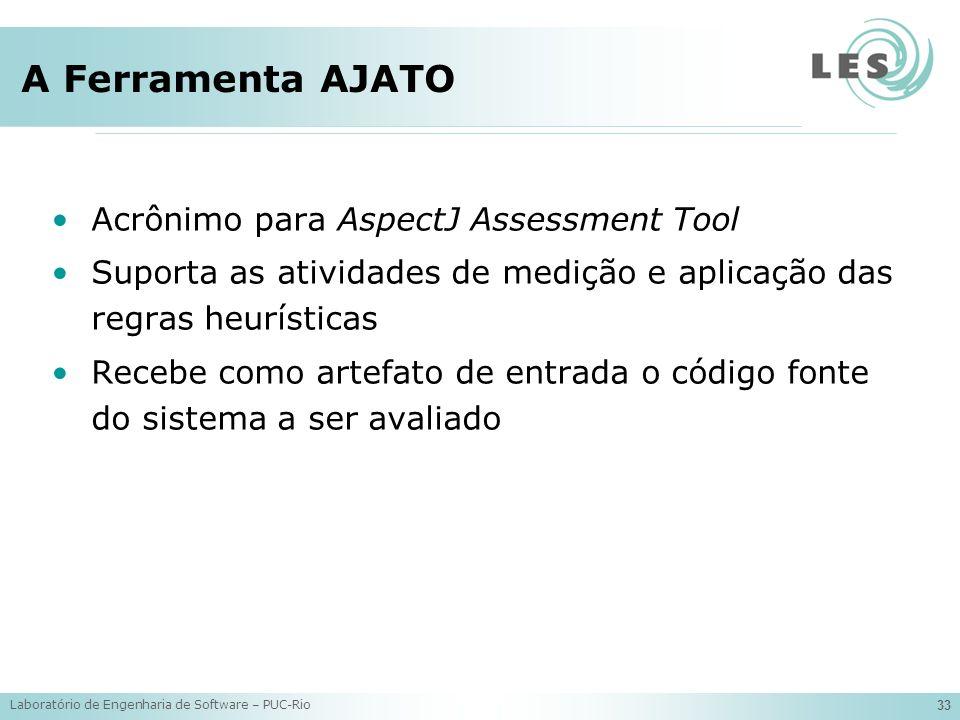 A Ferramenta AJATO Acrônimo para AspectJ Assessment Tool