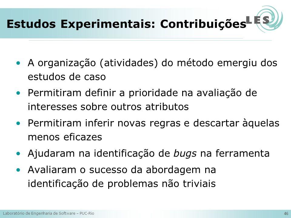Estudos Experimentais: Contribuições
