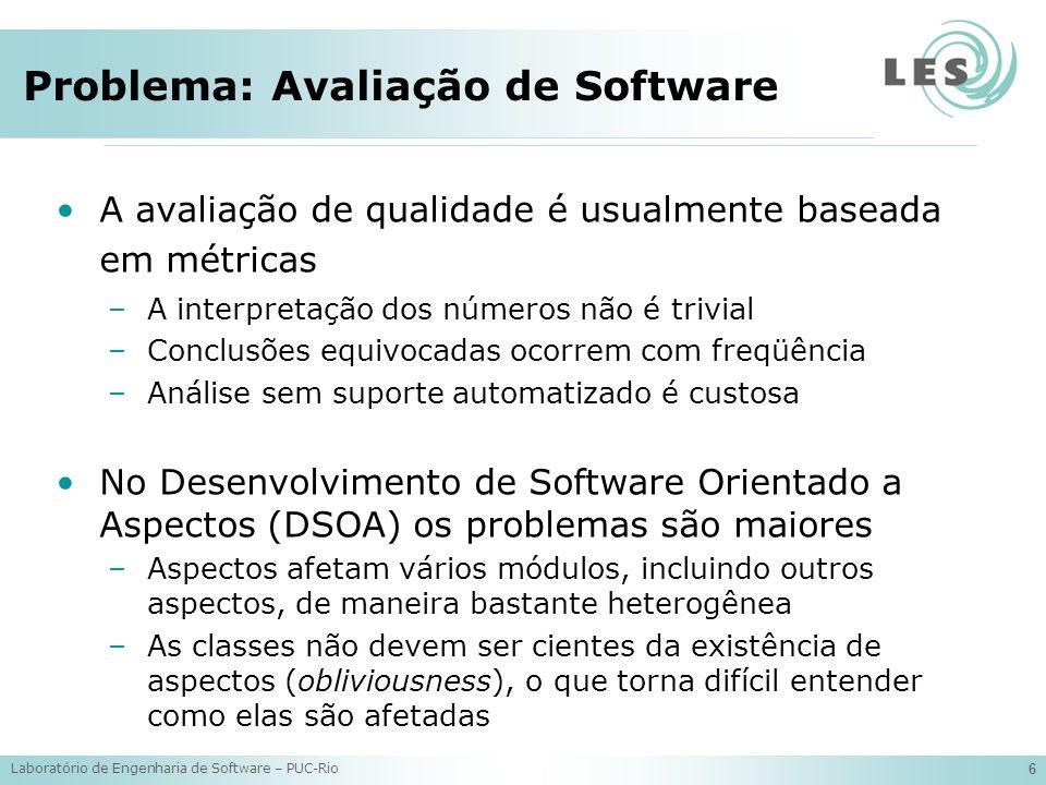 Problema: Avaliação de Software