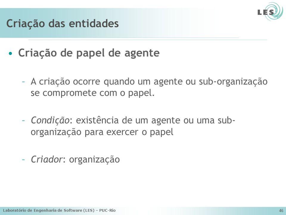 Criação de papel de agente