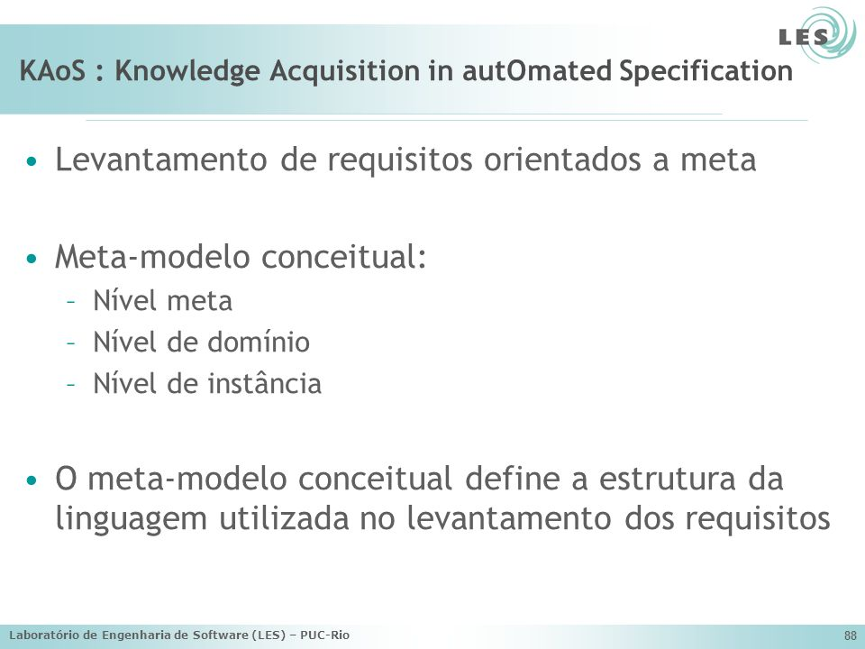KAoS : Knowledge Acquisition in autOmated Specification