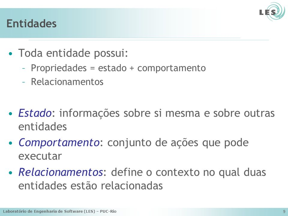 Estado: informações sobre si mesma e sobre outras entidades