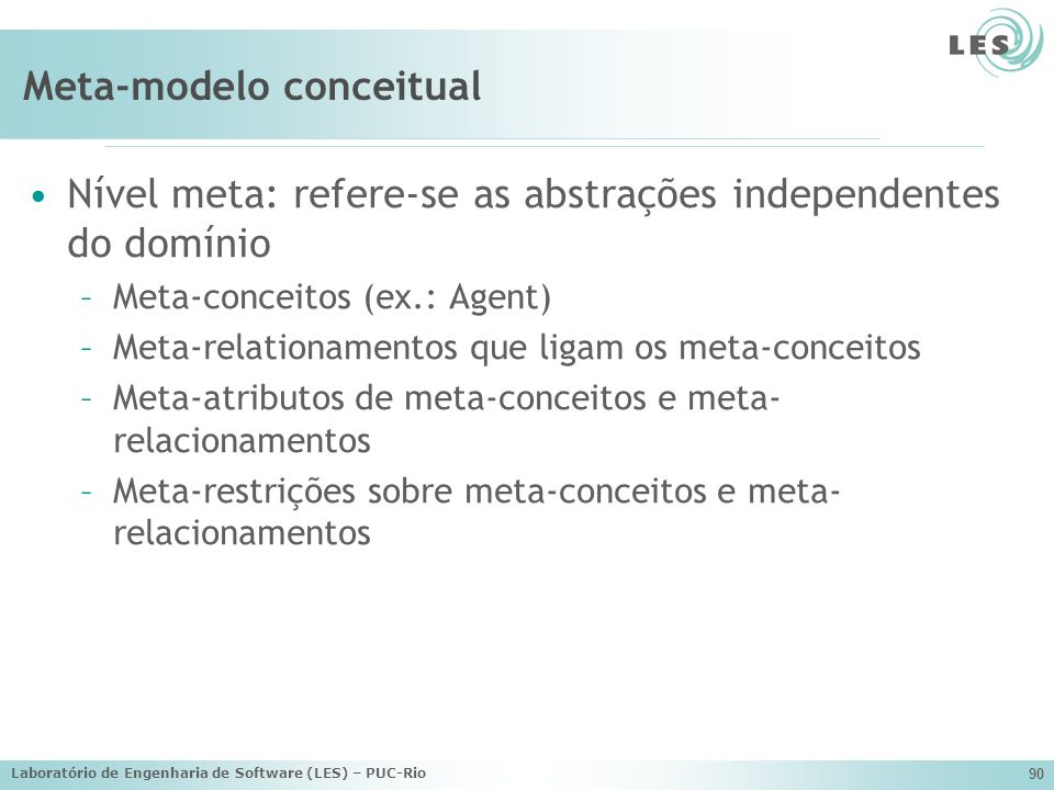 Meta-modelo conceitual