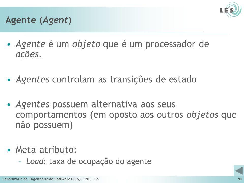 Agente é um objeto que é um processador de ações.