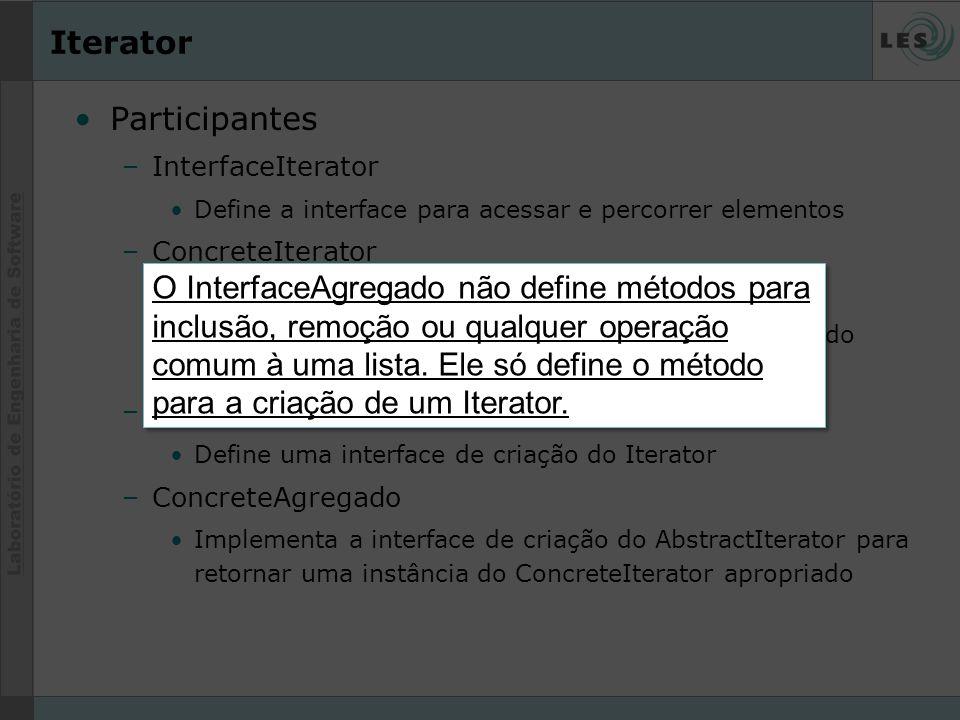 Iterator Participantes