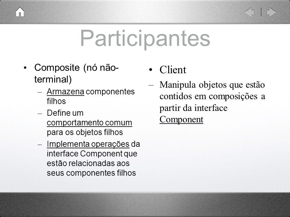 Participantes Client Composite (nó não-terminal)