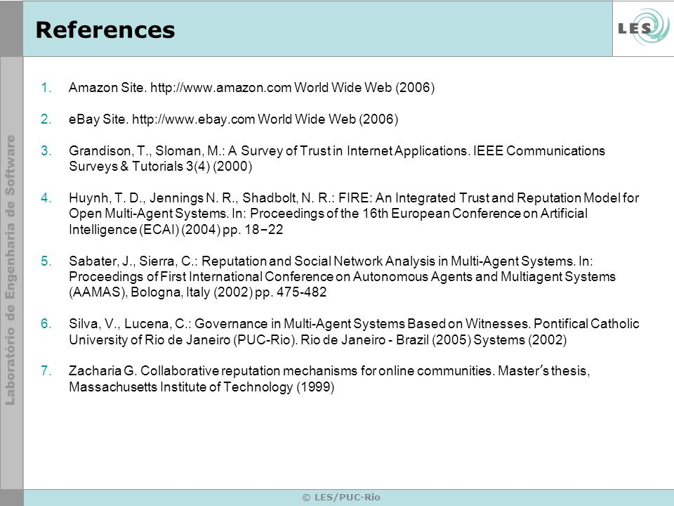 References Amazon Site. http://www.amazon.com World Wide Web (2006)