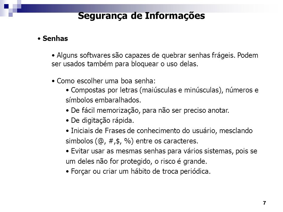 Segurança de Informações
