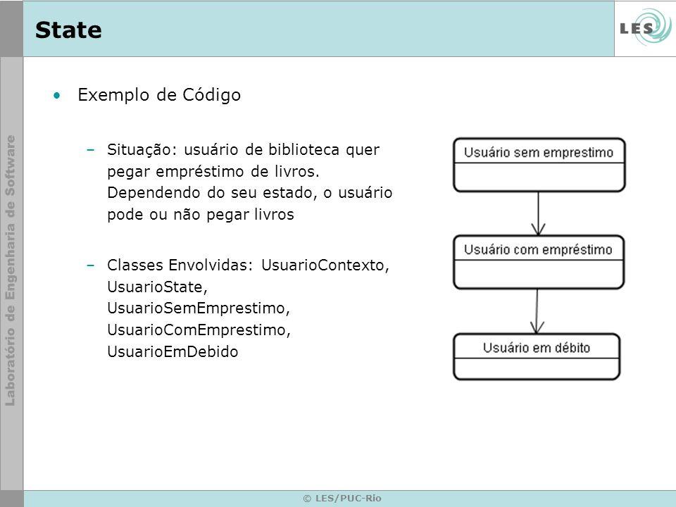 State Exemplo de Código