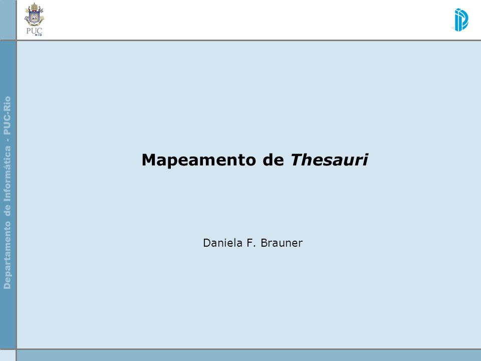 Mapeamento de Thesauri