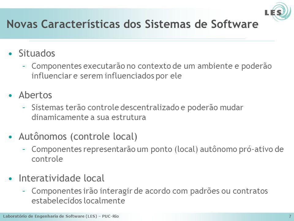 Novas Características dos Sistemas de Software