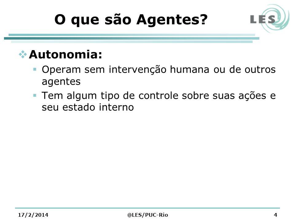 O que são Agentes Autonomia: