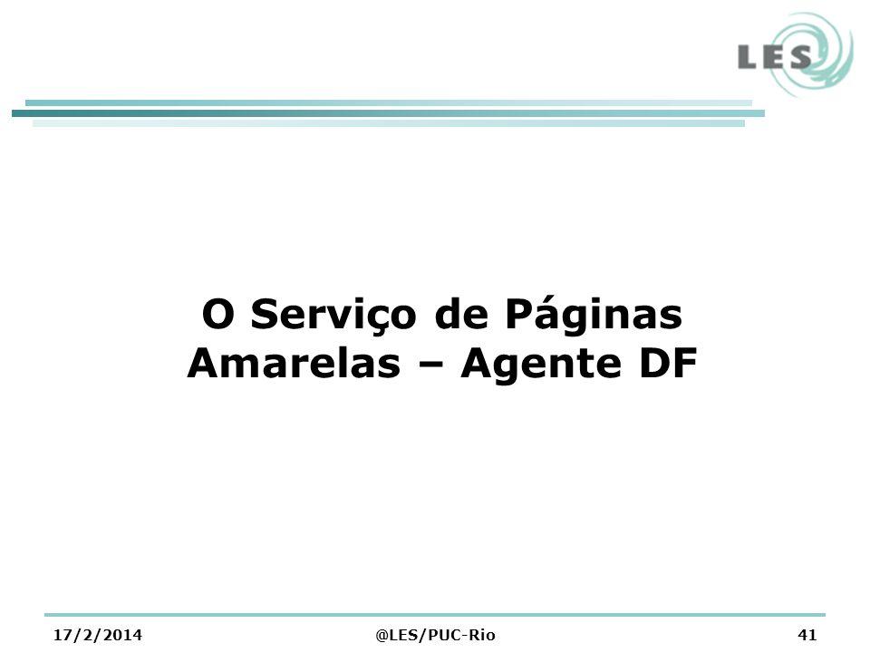 O Serviço de Páginas Amarelas – Agente DF