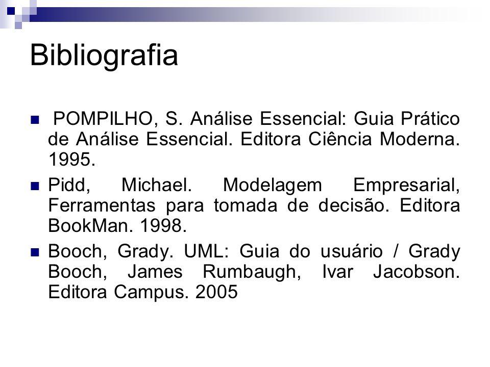 Bibliografia POMPILHO, S. Análise Essencial: Guia Prático de Análise Essencial. Editora Ciência Moderna. 1995.