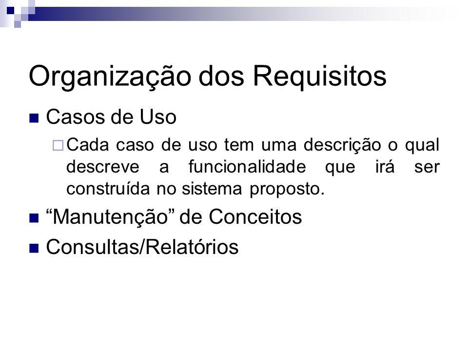Organização dos Requisitos