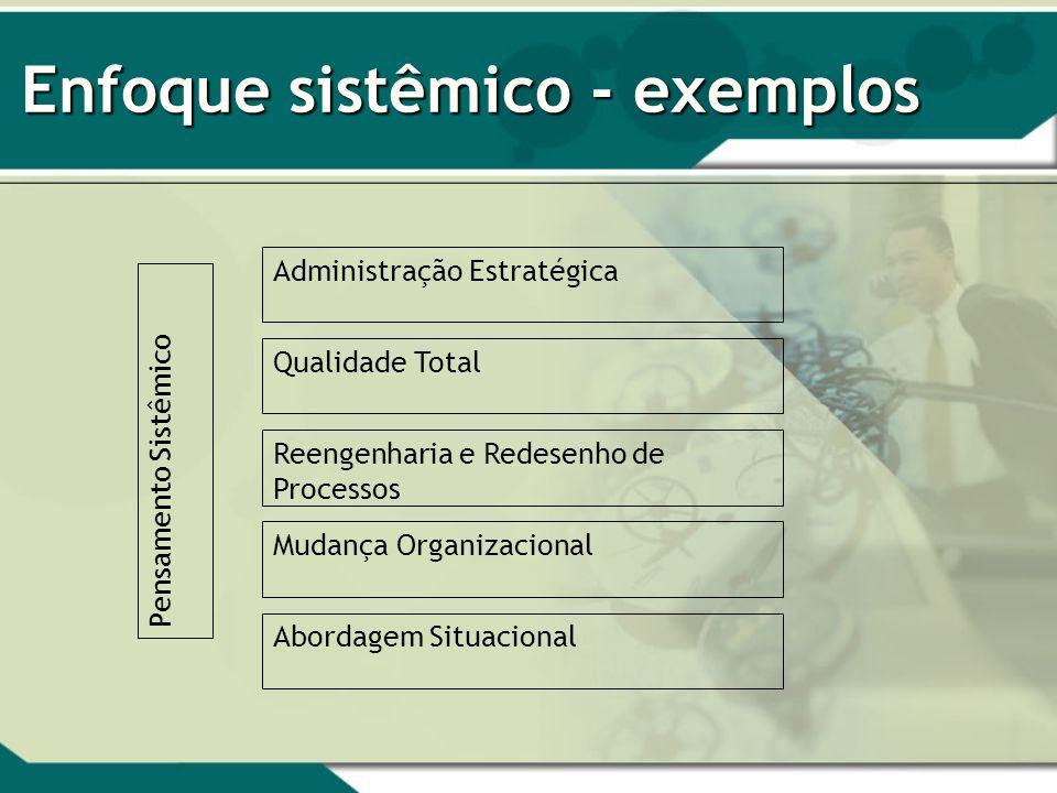 Enfoque sistêmico - exemplos