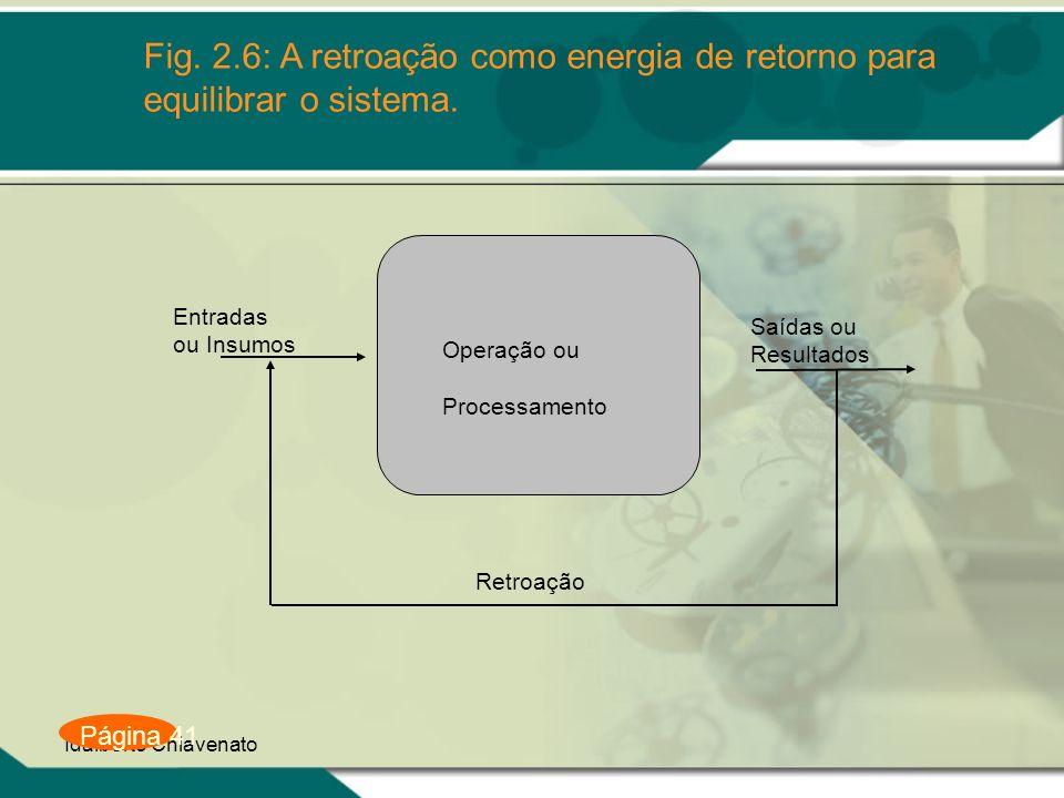 Fig. 2.6: A retroação como energia de retorno para equilibrar o sistema.