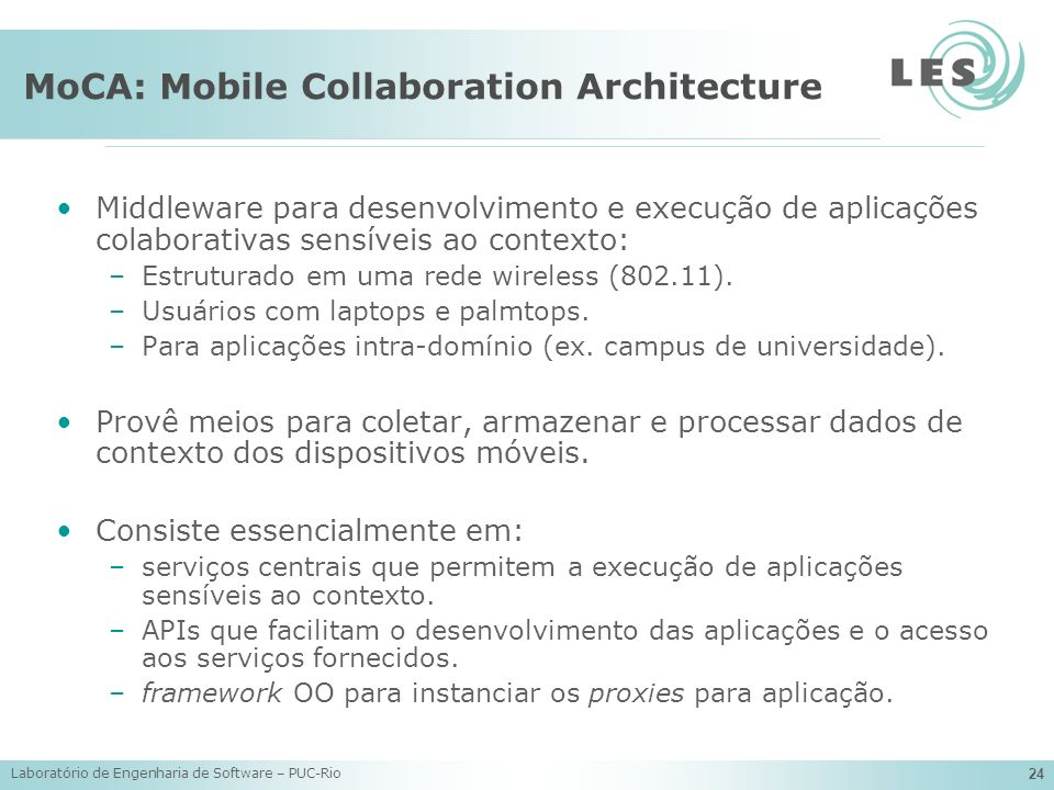 MoCA: Mobile Collaboration Architecture