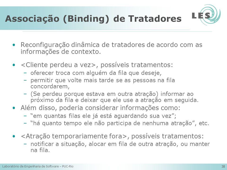 Associação (Binding) de Tratadores