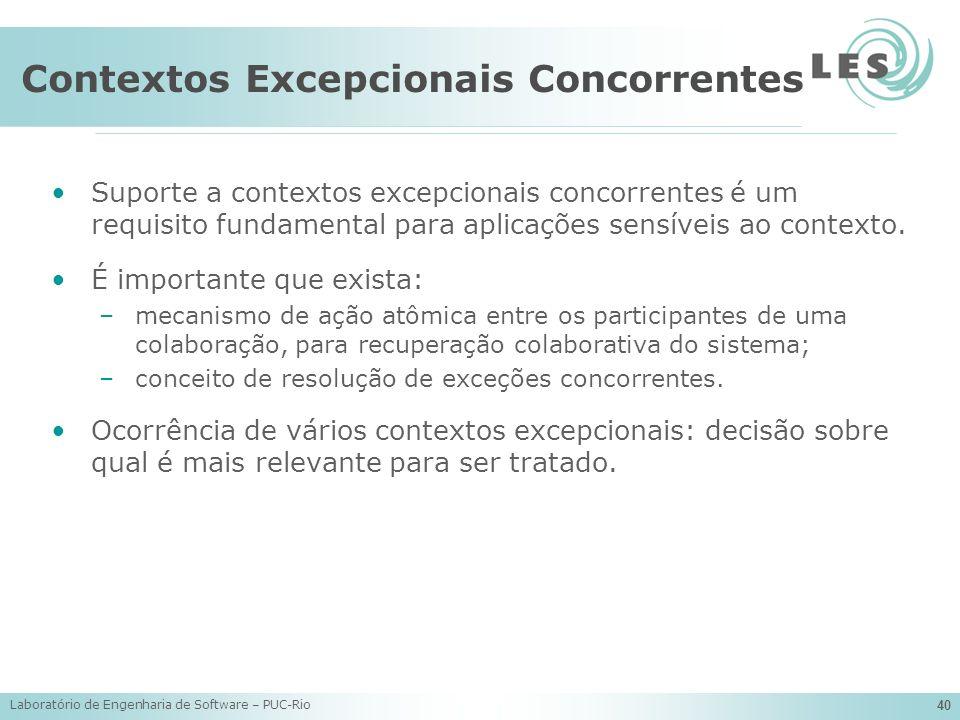 Contextos Excepcionais Concorrentes