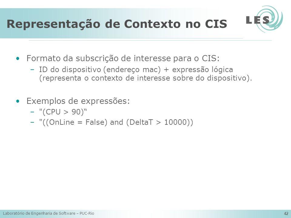 Representação de Contexto no CIS