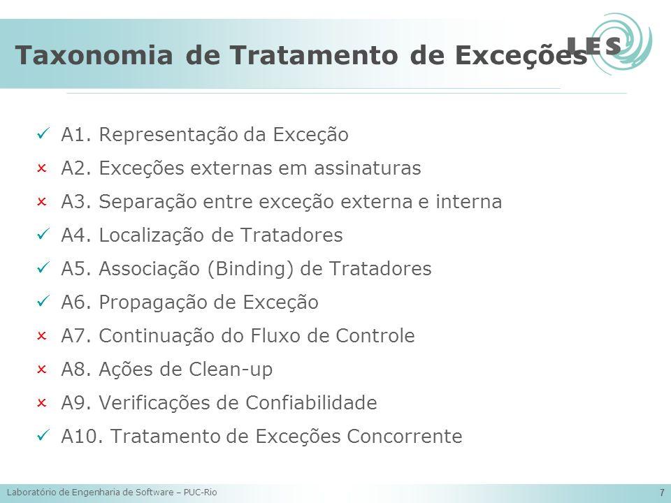 Taxonomia de Tratamento de Exceções