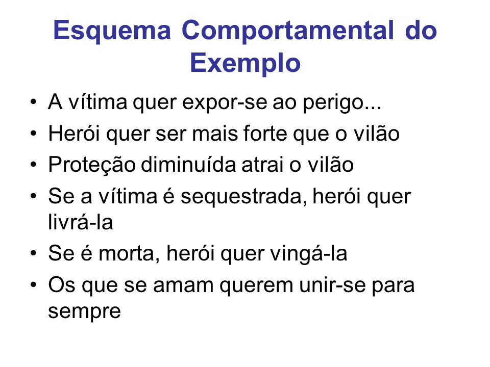 Esquema Comportamental do Exemplo