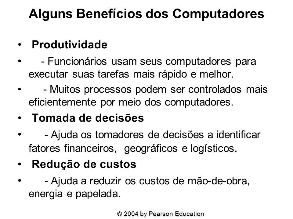 Alguns Benefícios dos Computadores
