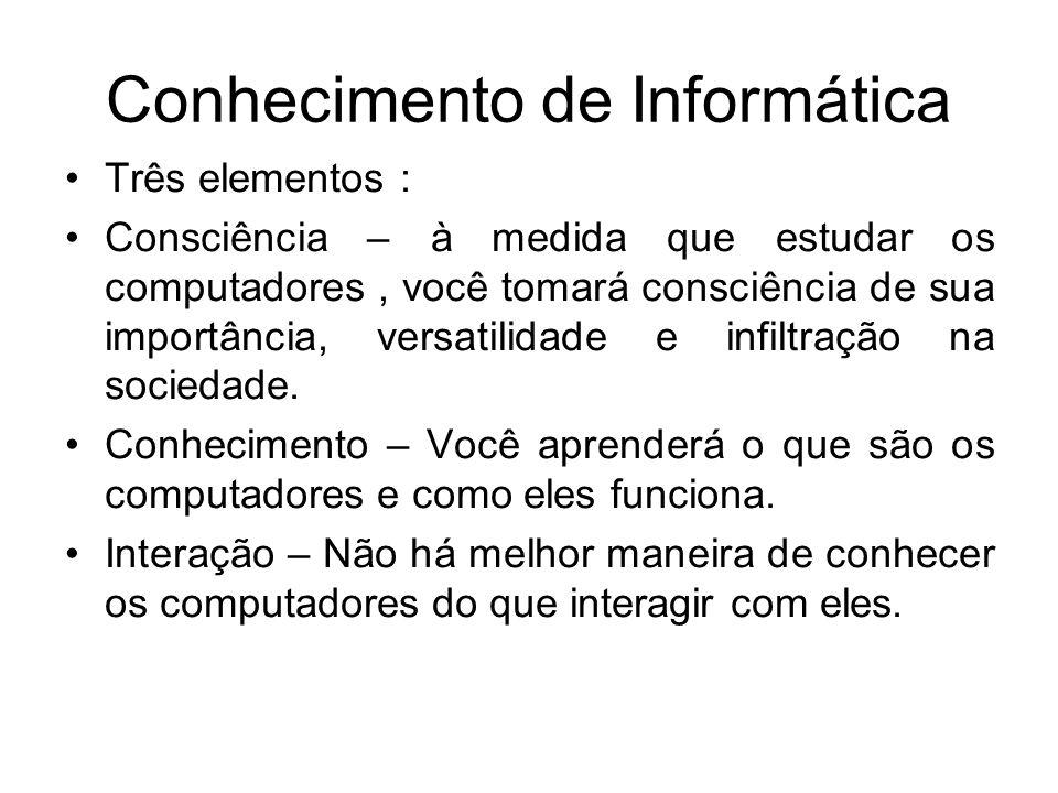 Conhecimento de Informática