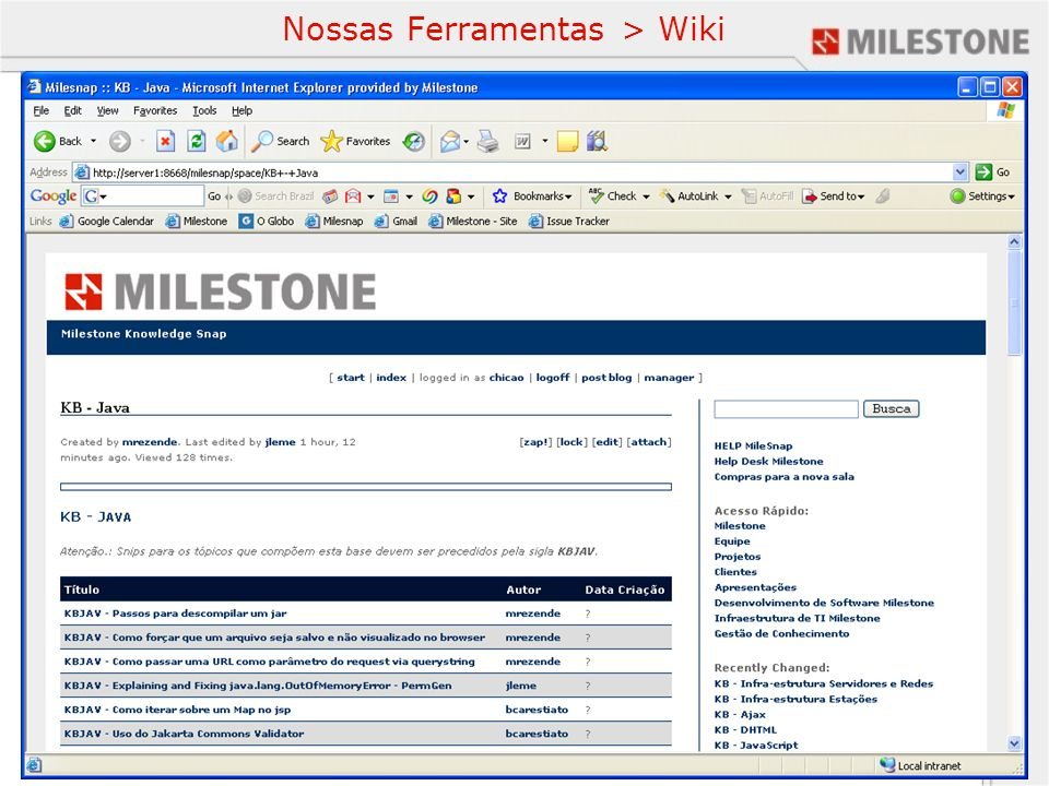 Nossas Ferramentas > Wiki