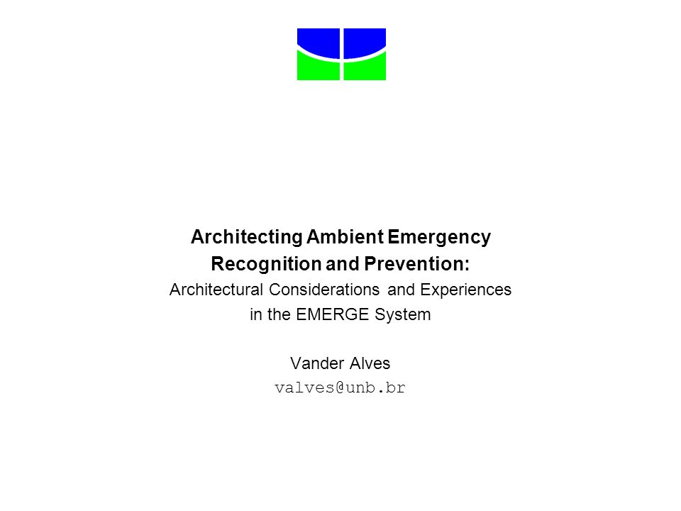 Architecting Ambient Emergency Recognition and Prevention: