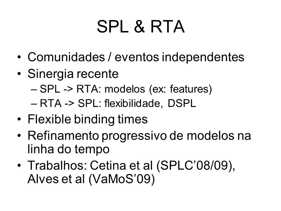 SPL & RTA Comunidades / eventos independentes Sinergia recente