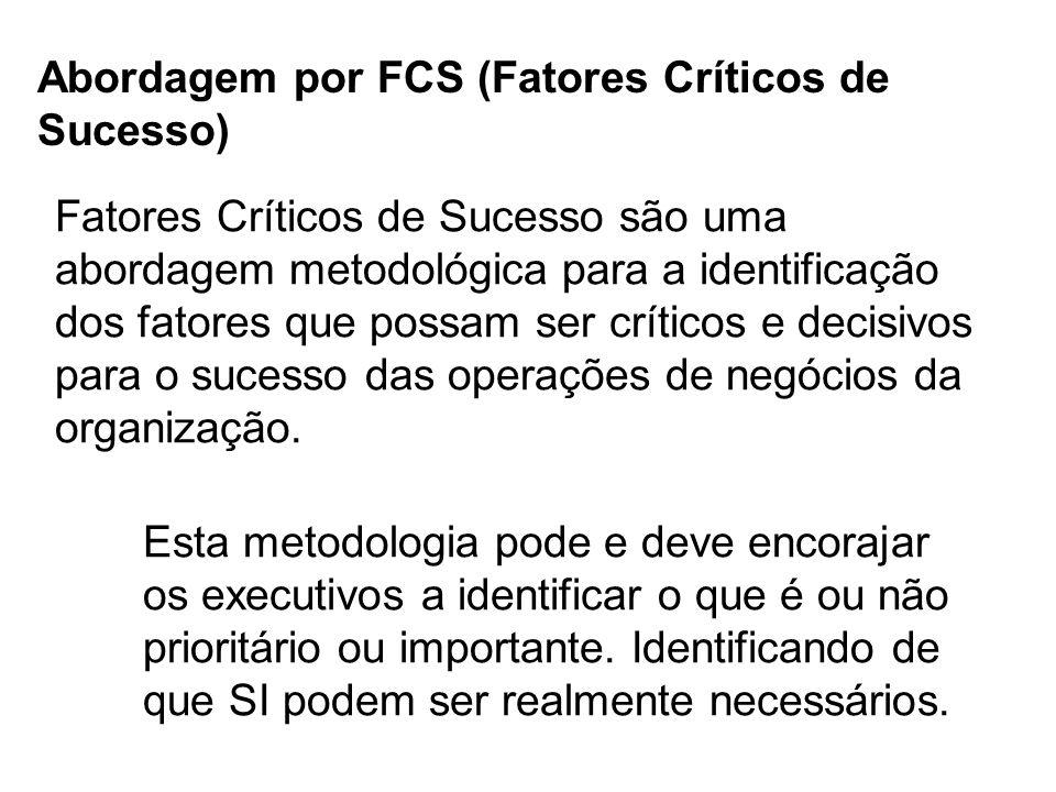 Abordagem por FCS (Fatores Críticos de Sucesso)