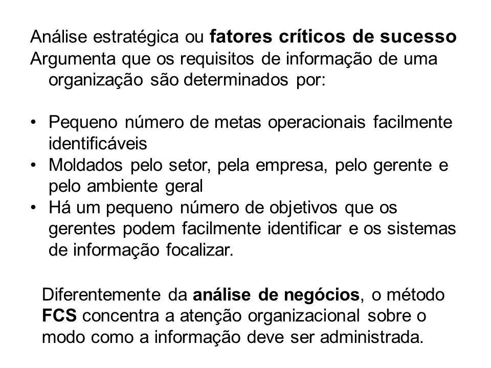 Análise estratégica ou fatores críticos de sucesso