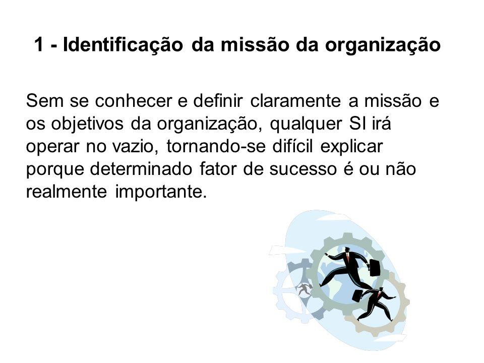 1 - Identificação da missão da organização