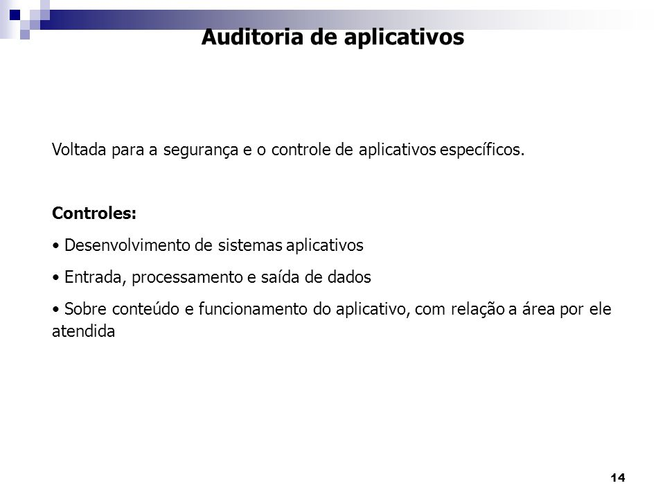 Auditoria de aplicativos